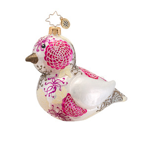 RADKO 1016916 TWEETIE - BIRD - PATTERNED ANIMAL COLLECTION ORNAMENT - NEW 2013 (13-18)