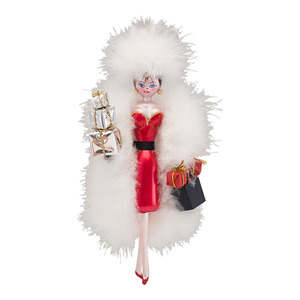RADKO 1017009 PARK AVENUE PATTY - SHOPPING DIVA - ITALIAN ORNAMENT - NEW 2013 (13-21)