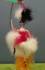 RADKO 1011932 SHE CERTAINLY CAN CAN - ITALIAN - LADY DANCER - RETIRED ORNAMENT (Z)