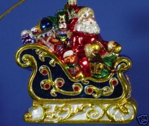 RADKO 3010837 MAGICAL SLEIGHRIDE - LIMITED EDITION SAKS FIFTH AVENUE EXCLUSIVE - RETIRED ORNAMENT (T)