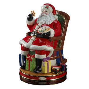 RADKO 2011920 MIDNIGHT TREATS SANTA COOKIE JAR - SANTA IN CHAIR - FREE SHIPPING - NEW FOR 2012 - NOW RETIRED