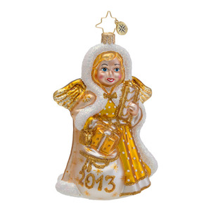 RADKO 1016661 HEAVENLY MEMORY - DATED 2013 - GOLD ANGEL ORNAMENT - NEW 2013 (13-2)