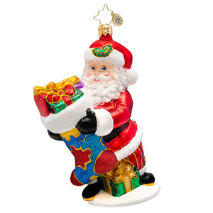 RADKO 1017461 HOLDING ON FOR HOPE - AUTISM AWARENESS - SANTA ORNAMENT - NEW 2014 (14-1)