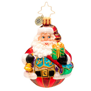 RADKO 1017211 VEST OF ALL GEM - SANTA WITH BELL AND GIFT ORNAMENT - NEW 2014 (22)