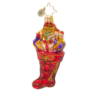 RADKO 1017215 SCARLET SPLENDOR GEM - STOCKING WITH GIFTS ORNAMENT - NEW 2014 (22)