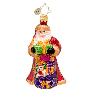 RADKO 1017216 FROM RUSSIA WITH LOVE GEM - SANTA WITH BAG OF GIFTS ORNAMENT - NEW 2014 (22)