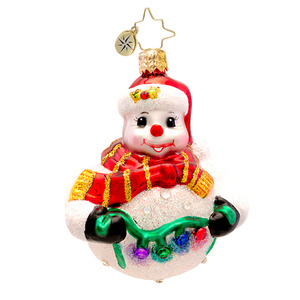 RADKO 1017237 TREE TRIM FROSTY GEM - JEWELED SNOWMAN ORNAMENT - NEW 2014 (22-1)