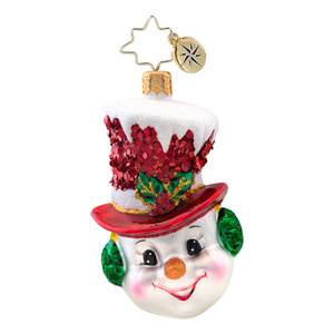 RADKO 1017078 SNOW CHAPEAU GEM - SNOWMAN ORNAMENT - NEW 2014 (22)