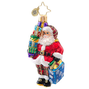 RADKO 1017079 LET'S GO SHOPPING GEM - SANTA WITH GIFTS ORNAMENT - NEW 2014 (22)