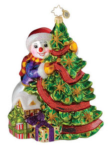 RADKO 1014872 FROSTY FIR FRIEND - GIFT STORE EXCLUSIVE - RETIRED ORNAMENT (Q3)