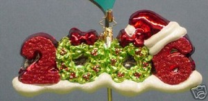 RADKO 1012763 GLITTER 6 - DATED 2006 - RETIRED ORNAMENT (JJ)