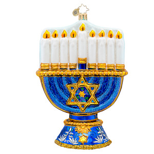 RADKO 1017291 A LASTING LIGHT - MENORAH - JEWISH - HANNUKAH ORNAMENT - NEW 2014 (14-10)