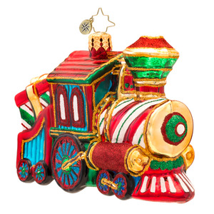 RADKO 1017277 SWEET CHUGGIN' ALONG - CHILDREN TRAIN ORNAMENT - NEW 2014 (14-9)