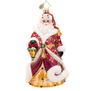 RADKO 1017508 SHIMMERING SANTA - LUXE COLLECTION - JEWELED SANTA WITH LANTERN ORNAMENT - NEW 2014 (14-1)(14-15)