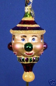 RADKO 01-0863-0 CLOWNING AROUND GEM - 4 SIDED - RETIRED ORNAMENT (13)