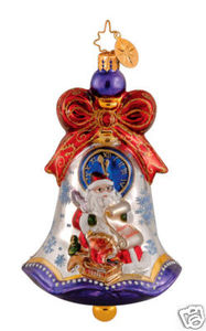 RADKO 1014014 CHIME TIME - BELLS OF CEDAR HILL - SANTA - RETIRED ORNAMENT (GG3)