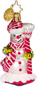 RADKO 1010615 CHERRY ICE GEM - SNOWMAN - RETIRED ORNAMENT (2)