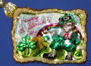 RADKO 02-0399-0 WEE FOLK GREETINGS GEM - ST PATRICK'S DAY - RETIRED ORNAMENT (10)