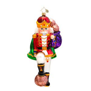 RADKO 1017238 MAJOR CRACKER - NUTCRACKER WITH BAG OF NUTS ORNAMENT - NEW 2014 (14-8)