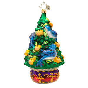 RADKO 1017391 ON THE FOURTH DAY OF CHRISTMAS - CALLING BIRDS IN TREE ORNAMENT - 12 DAYS OF CHRISTMAS - NEW 2014 (14-12)