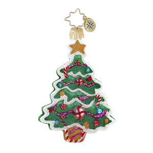 RADKO 1017604 SWEET TOOTH TREE GEM - GINGERBREAD TREE WITH CANDY ORNAMENT - NEW 2014 (22-1)