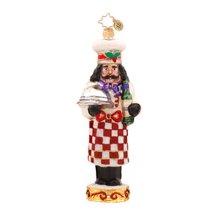 RADKO 1017555 CAFE CRACKER - CHEF - COOKING NUTCRACKER ORNAMENT - NEW 2015 (15-3)