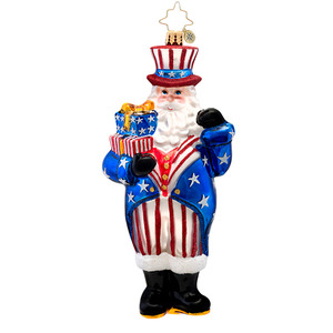 RADKO 1017107 CONSTITUTION CLAUS - SANTA - PATRIOT ORNAMENT - NEW 2014 (14-5)