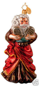 RADKO 1013067 WRITTEN IN STONE - MOSES - 10 COMMANDMENTS - RETIRED ORNAMENT (W)