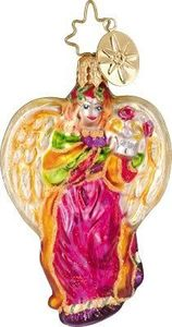 RADKO 1011255 HEAVENLY HOSTS GEM - PINK ANGEL - RETIRED ORNAMENT(2)