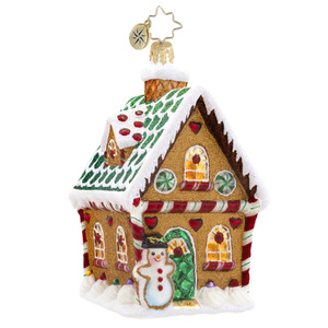RADKO 1017586 SWEET GINGER COTTAGE - GINGERBREAD HOUSE ORNAMENT - NEW 2013 (15-4)
