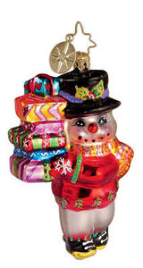 RADKO 1011699 LAST MINUTE SHOPPER GEM - SNOWMAN - RETIRED ORNAMENT (6)