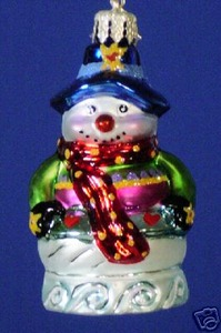 RADKO 1012141 BIG, WARM & WOLLY GEM - SNOWMAN - RETIRED ORNAMENT (4)