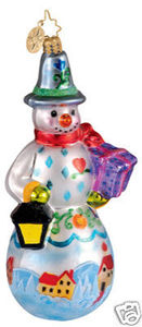RADKO 1012367 SNOWGUIDE - SNOWMAN - PAINTING - NEW 2006 - RETIRED ORNAMENT (EE1)