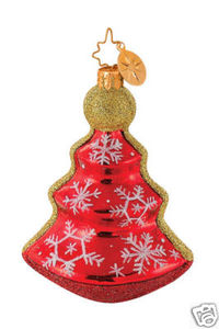 RADKO 1014613 VERMILLION FROST - TREE - RETIRED ORNAMENT (G4)