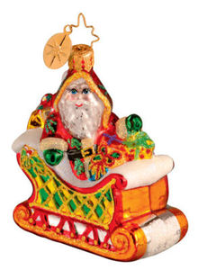 RADKO 1013051 GOING MY WAY GEM - SANTA & SLED - RETIRED ORNAMENT (7)