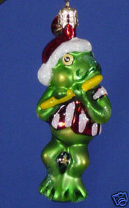 RADKO 1010494 POND THUMPERS GEM - FROG - FLUTE - RETIRED ORNAMENT (7)