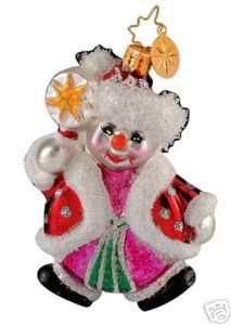 RADKO 1013959 PEPPERMINT JOY GEM - CANDY SNOWMAN - RETIRED ORNAMENT (15)