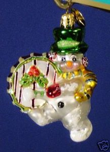 RADKO 1012589 ON THE SNOWBEAT GEM - DRUM - RETIRED ORNAMENT (3)