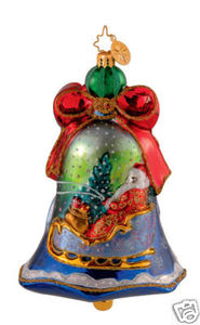 RADKO 1014018 ELEGANT ENTRANCE - BELLS OF CEDAR HILL - SANTA - RETIRED ORNAMENT (GG3)