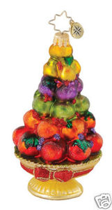 RADKO 1015031 HEALTHY HOLIDAY - FRUIT TOPIARY - DIABETES CHARITY - RETIRED ORNAMENT (Q)