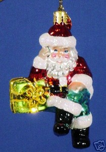 RADKO 1013492 PRESENTLY RESTING GEM - SANTA - RETIRED ORNAMENT (14)