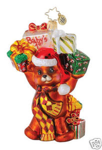 RADKO 1014862 BOUNCIN' BABY BEAR - BABY'S 1st - NOT DATED - RETIRED ORNAMENT (Q2)