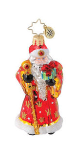 RADKO 1015123 REGAL RUBY SANTA GEM - SANTA ORNAMENT -  NEW 2010 (18)