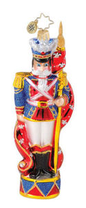 RADKO 1014858 GRAND STANDING GUARD NUTCRACKER ORNAMENT - RETIRED ORNAMENT (Q4)