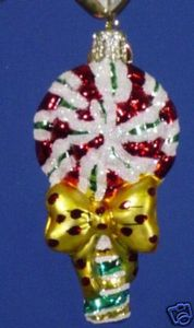 RADKO 01-0556-0 PEPPERMINT PINWHEEL GEM - CANDYLAND - RETIRED ORNAMENT (13)