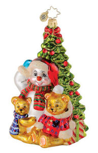 RADKO 1014928 TEDDY FROST TREE - SNOWMAN - BEAR - RETIRED ORNAMENT (Q6)