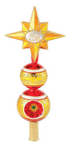 RADKO 1015230 TIP TOP CELEBRATION FINIAL - 25TH ANNIVERSARY TREE TOPPER - RETIRED