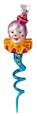 RADKO 1011613 CLOWN STREAMERS - SET OF 6 ORNAMENTS - CHRISTOPHER'S FAVORITE (CF1)