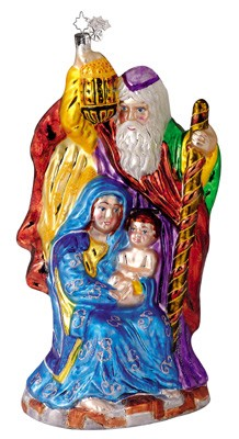 RADKO 1011633 O HOLY NIGHT - JOSEPH, MARY & JESUS ORNAMENT  - CHRISTOPHER'S FAVORITE -  (CF)