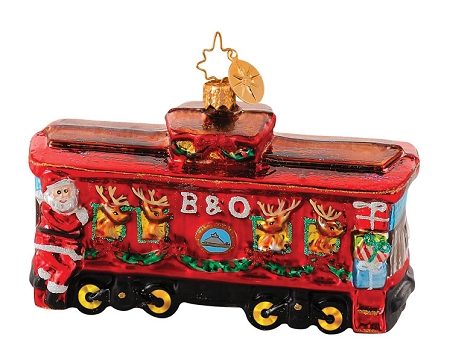 RADKO 1014650 COOL YULE CABOOSE - SANTA TRAIN ORNAMENT (G)